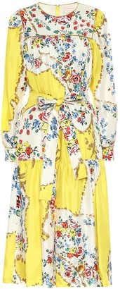 Tory Burch Floral silk satin midi dress