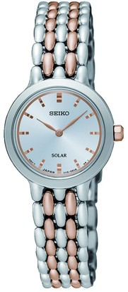 Seiko Women's Analogue Solar Powered Watch with Stainless Steel Strap SUP351P1