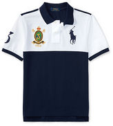 Ralph Lauren 8-20 Color-Blocked Cotton Mesh Polo