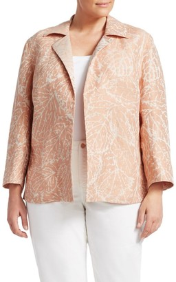 Lafayette 148 New York, Plus Size Phillipe Open Front Jacket