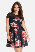 Fashion to Figure Adlin Floral Print Flare Dress
