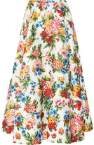 Emilia Wickstead Eleanor floral-print basketweave maxi skirt