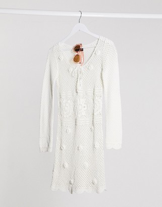 Asos DESIGN hand crochet knit mini dress