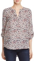 Daniel Rainn High Low Floral Print Blouse