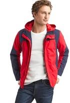 Gap Colorblock hooded rain jacket
