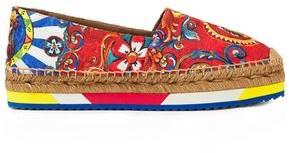 Dolce & Gabbana Printed Jacquard Espadrilles