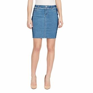 Black Daisy Women's Shadow Stripe Mini Skirt