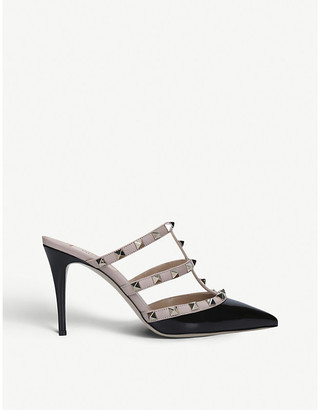Valentino Rockstud 90 leather heeled mules