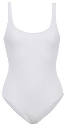 Melissa Odabash Button-detailed Pique Swimsuit