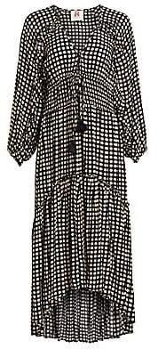 Figue Women's Alessia Polka Dot Ruched Waist Dress