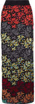 Missoni Metallic Embroidered Crochet-knit Maxi Skirt - Black