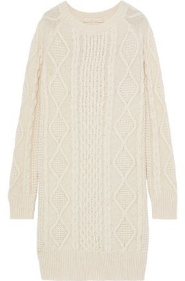 Vanessa Bruno Justina Cable-knit Alpaca-blend Dress