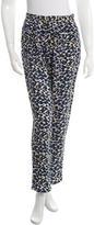 Sea Leopard Print Silk Pants