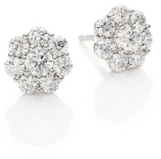 Hearts On Fire Beloved Diamond & 18K White Gold Stud Earrings