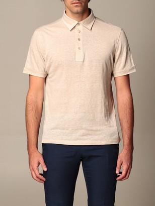 Ermenegildo Zegna Polo Shirt Polo Shirt In Pure Linen
