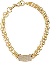 Rebecca Minkoff Chunky Crystal ID Collar Necklace, Gold