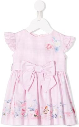 Lapin House Rose & Bow ruffle dress
