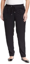 Mynt 1792 Surplus Twill Drawstring Pants, Black, Plus Size