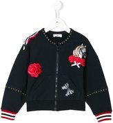 MonnaLisa zipped sweatshirt with patches