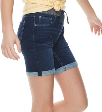 So Girls 4-18 & Plus Size Pull-On Bermuda Jean Shorts