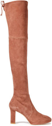 Stuart Weitzman Ledyland Stretch-suede Thigh Boots
