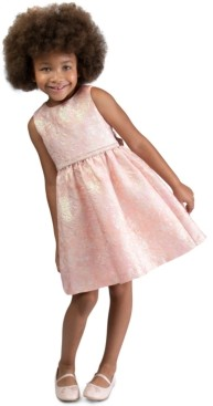 Bonnie Jean Little Girls Bow-Back Brocade Dress