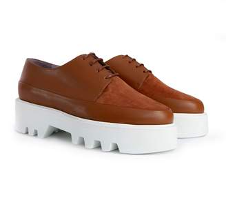 Unreal Fields Step Up - Camel Leather Platform Creepers