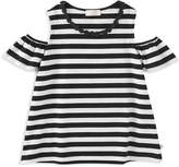 Kate Spade Girls' Striped Cold-Shoulder Top