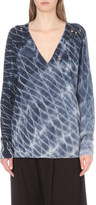 Raquel Allegra Tie-dye wool and cashmere-blend jumper