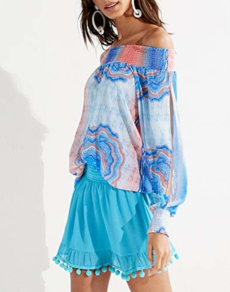 Ramy Brook Women's Printed Augustine Off The Shoulder TOP