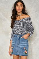 Nasty Gal nastygal Behind Rose Doors Denim Skirt