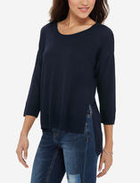 The Limited Crew Neck Asymmetrical Sweater