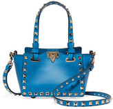 Valentino The Rockstud Micro Leather Shoulder Bag - Bright blue