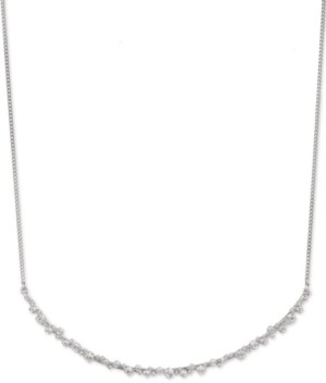 """Givenchy Crystal Curved Frontal Necklace, 16"""" + 3"""" extender"""