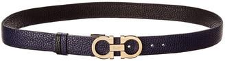 Salvatore Ferragamo Reversible & Adjustable Double Gancini Leather Belt