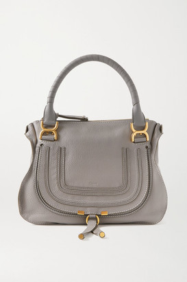 Chloé Marcie Medium Textured-leather Tote - Gray