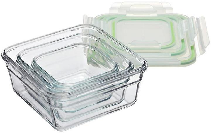 Container Store 1.5 qt. Glasslock® Square 6 c.