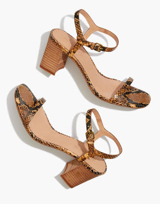Madewell The Hollie Ankle-Strap Sandal in Snake Embossed Leather