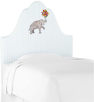 Gray Malin X Cloth & Company Elephant Stripe Headboard - English Blue - twin