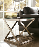 Signature Design by Ashley Brushed Nickel Finish Coylin Square End Table