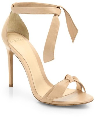 Alexandre Birman Clarita Bow Leather Sandals
