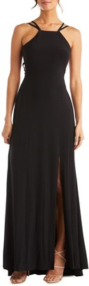 Morgan & Co. Strappy Back Gown