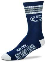For Bare Feet Men's Penn State Nittany Lions Deuce Striped Crew Socks