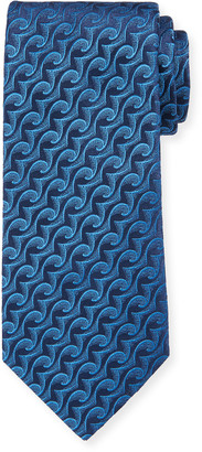 Charvet Men's Silk Large Wave Tie