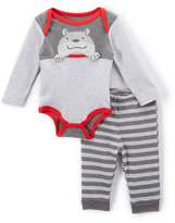 Buster Brown Heather Gray & Red Wold Bodysuit & Joggers - Infant