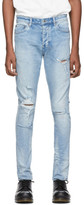 Ksubi Blue Chitch Thrashed Punk Jeans