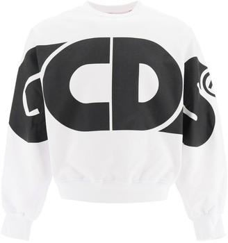 GCDS Macro Logo Crewneck Sweatshirt
