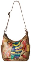 Anuschka 433 Classic Hobo With Studded Side Pockets Handbags