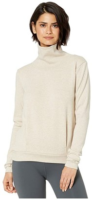 Alo Clarity Long Sleeve (Putty Heather) Women's Long Sleeve Pullover