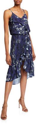 Parker Floral-Print Ruffle High-Low Dress
